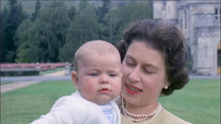 From Factual Fiction  THE QUEEN UNSEEN Thursday 8th April 2021 on ITV   Pictured: Queen with Prince Andrew as a baby at Balmoral in 1960 The Queen with 7- month old Prince Andrew, in some of the first pictures in colour taken of the young Prince. With the arrival of her third child, the Queen spent more time with her family.  The Queen is the most famous woman in the world, yet as she reaches her 95th birthday she remains an enigma. In this unique film, we lift the mask of royalty to reveal the remarkable woman behind the throne. To learn more about the hidden private Elizabeth Windsor, who has sacrificed so much for crown and duty and discover how she has coped with increasing public demands to reveal every aspect of her private self.   Using unseen home movies, intimate informal archive and recently digitised ÔlostÕ material from some of the 116 countries she has visited, weÕll uncover the real Elizabeth Windsor.  In rare off-duty moments weÕll discover The Queen on holiday, as a mother, wife, cook, animal lover, farmer, and expert horsewoman.  This remarkable footage shows her true passions and some of the unlikely, unknown friendships she has forged away from the public eye.  (c) Factual Fiction.  For further information please contact Peter Gray 07831 460 662 peter.gray@itv.com    This photograph is © Factual Fiction and can only be reproduced for editorial purposes directly in connection with the programme. THE QUEEN UNSEEN or ITV. Once made available by the ITV Picture Desk, this photograph can be reproduced once only up until the Transmission date and no reproduction fee will be charged. Any subsequent usage may incur a fee. This photograph must not be syndicated to any other publication or website, or permanently archived, without the express written permission of ITV Picture Desk. Full Terms and conditions are available on the website https://www.itv.com/presscentre/itvpictures/terms