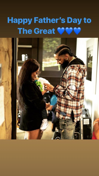 Lauren London Pays Tribute to Nipsey Hussle and More Sweet Father's