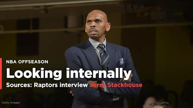 The Toronto Raptors have interviewed Jerry Stackhouse — coach of their development league affiliate the Raptors 905 — for the NBA franchise's head-coaching opening, league sources told Yahoo Sports.