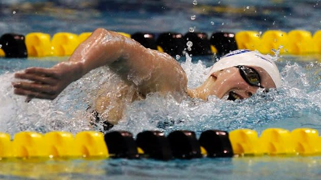 Katie Ledecky, who could earn an Olympic berth as a 15-year-old — Associated Press