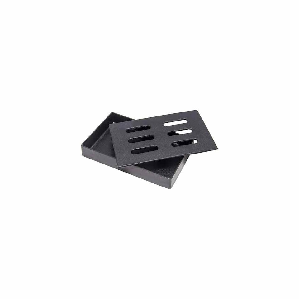 """<p><strong>Char-Broil</strong></p><p>amazon.com</p><p><strong>$17.07</strong></p><p><a href=""""https://www.amazon.com/dp/B0001B50B2?tag=syn-yahoo-20&ascsubtag=%5Bartid%7C10072.g.32813766%5Bsrc%7Cyahoo-us"""" rel=""""nofollow noopener"""" target=""""_blank"""" data-ylk=""""slk:SHOP NOW"""" class=""""link rapid-noclick-resp"""">SHOP NOW</a></p><p>Turn any traditional grill into a smoker of sorts with this cast iron smoker box. Simply fill it with the wood chips of your choice. </p>"""