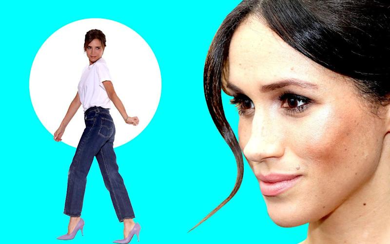 Victoria Beckham's designs have been a go-to for Meghan throughout her royal life