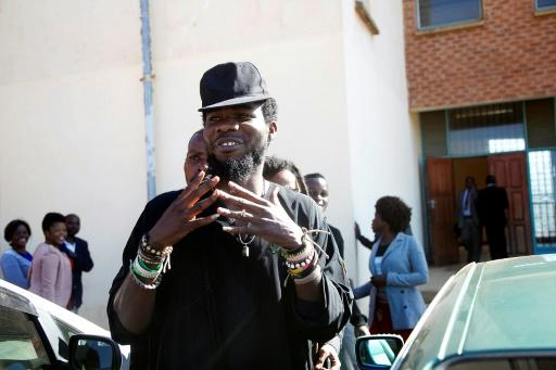 Zambian Musician Chama Fumbe, popularly known as Pilato, is no stranger to legal troubles. Here he is seen leaving a Lusaka court in 2015, during a  trial for 'conduct likely to breach the peace'