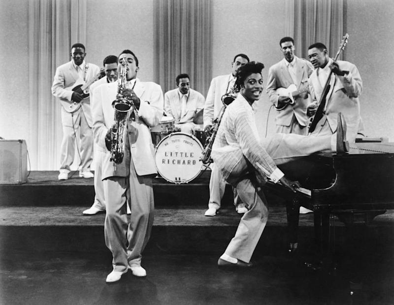 Little Richard en 1957 con su orquesta