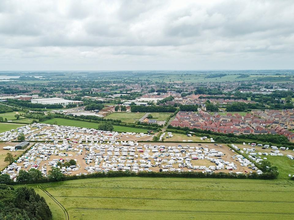 The owners of the showground apologised over reports of anti-social behaviour from attendees of a Christian festival being held on its site (swns)