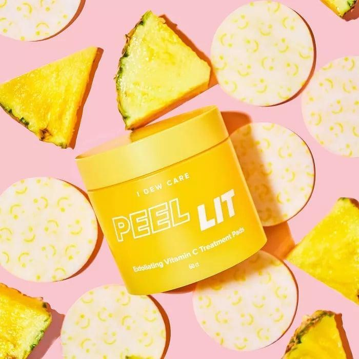 <p>Give yourself a deep exfoliation with the <span>I Dew Care Peel Lit Exfoliating Vitamin C Treatment Pads - 60ct</span> ($24) to reveal brighter skin. Each pad is dual-sided featuring a textured side to be used as a gentle exfoliator and a smooth side.</p>