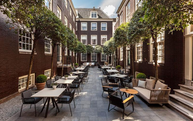 The Dylan, intimate and detached from the bustle of Amsterdam, comprises just 40 rooms, spread through two historic canal-side buildings - Roel Ruijs