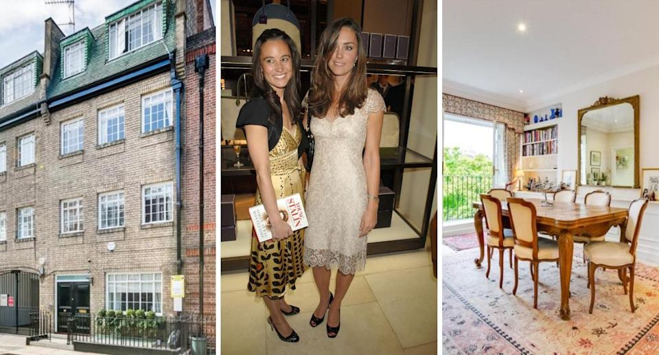 Kate and Pippa, pictured in 2007, used to share a home in Chelsea (Rex/Right Move)