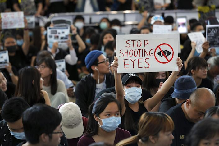 Hong Kong protests airports