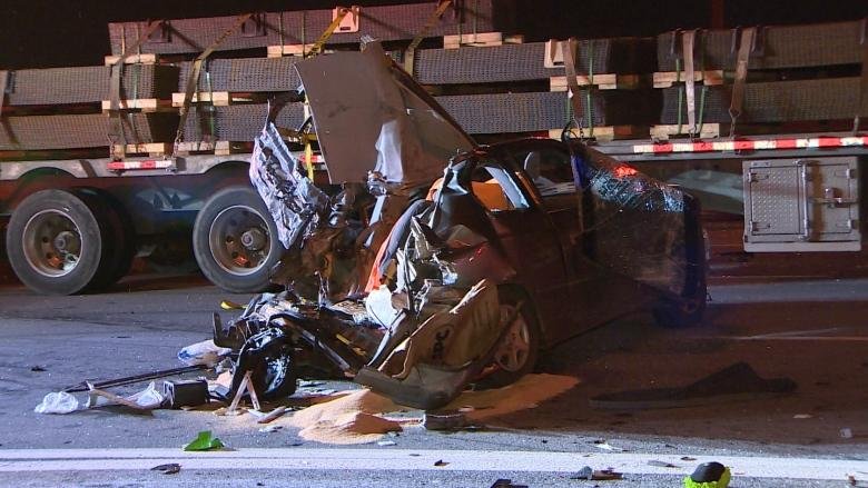 Toronto man, 56, killed in 'devastating' Highway 401 crash with transport truck