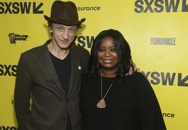 John Hawkes and Octavia Spencer arrive at the world premiere of <em>Small Town Crime</em> at the Paramount Theatre during the South by Southwest Film Festival. (Photo: Jack Plunkett/Invision/AP)