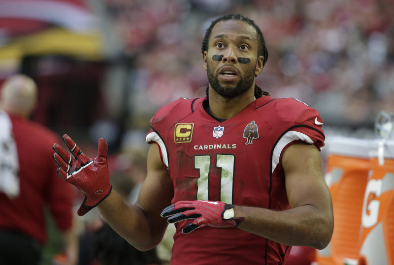 Arizona Cardinals wide receiver Larry Fitzgerald's future beyond 2017 is uncertain. (AP)
