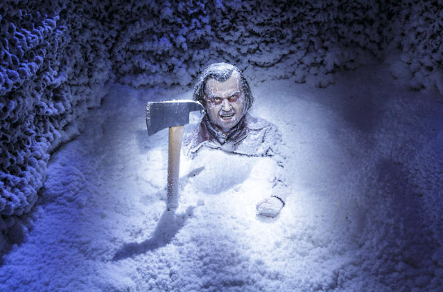 Jack Torrance chills out at Universal Studios Hollywood's maze based on <i>The Shining</i>. (Photo: David Sprague/Universal Studios Hollywood)
