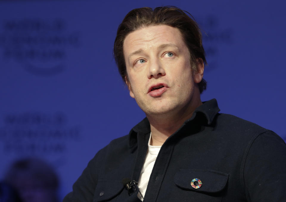 Chef Jamie Oliver attends the annual meeting of the World Economic Forum (WEF) in Davos, Switzerland, January 18, 2017. REUTERS/Ruben Sprich