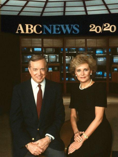 PHOTO: Hugh Downs and Barbara Walters are seen here in 1983. (Steve Fenn/ABC via Getty Images)