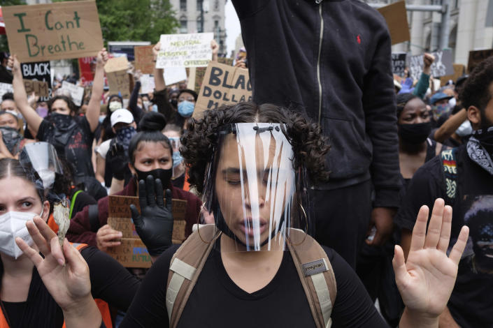 Protesters in New York City