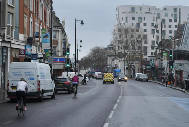 A general view of Clapham high street in London, Britain. (Dylan Martinez/Reuters)