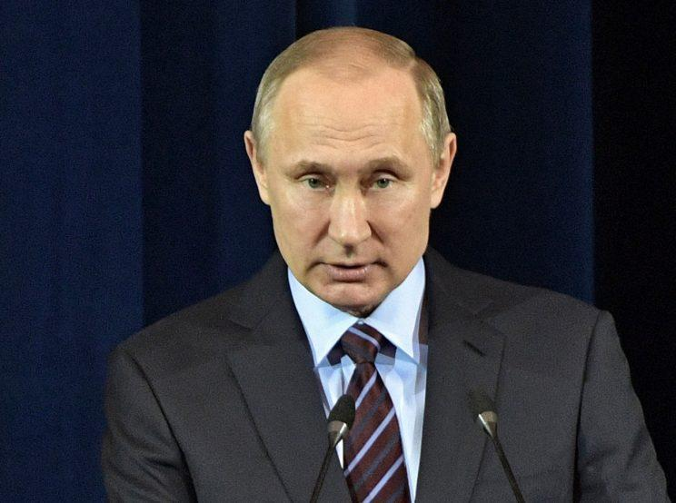 Russian President Vladimir Putin is reportedly mobilising troops towards the North Korean border (Picture: AP)