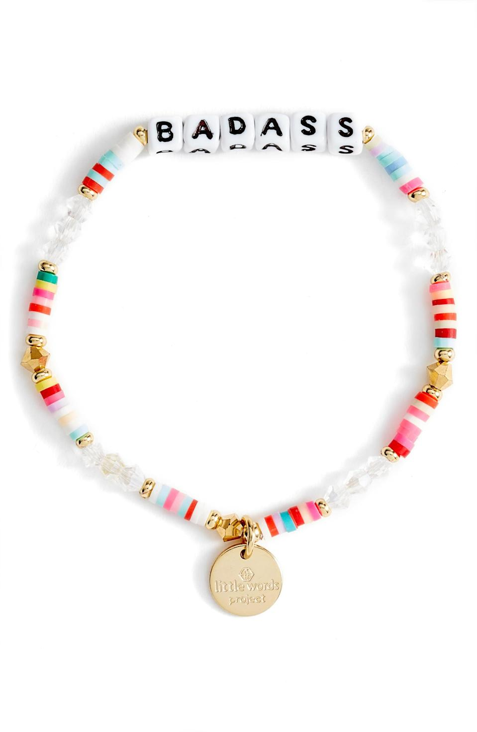 <p>Buy a grown-up version of the friendship bracelets we wore as kids with this <span>Badass Beaded Stretch Bracelet</span> ($20). </p>