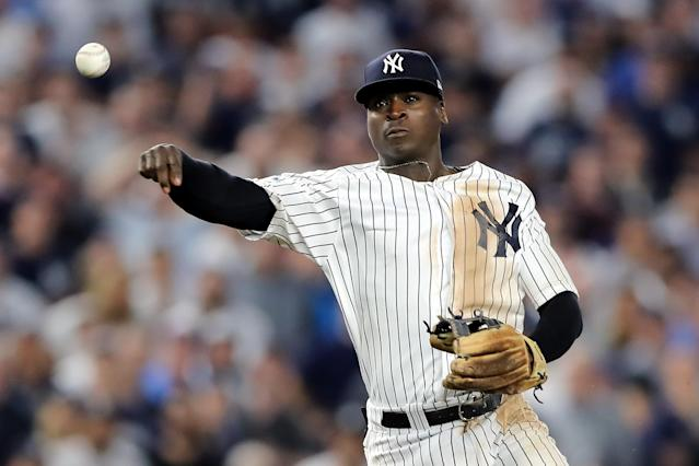 "<a class=""link rapid-noclick-resp"" href=""/mlb/teams/nyy"" data-ylk=""slk:Yankees"">Yankees</a> shortstop <a class=""link rapid-noclick-resp"" href=""/mlb/players/9282/"" data-ylk=""slk:Didi Gregorius"">Didi Gregorius</a> will have Tommy John surgery. (Photo by Elsa/Getty Images)"