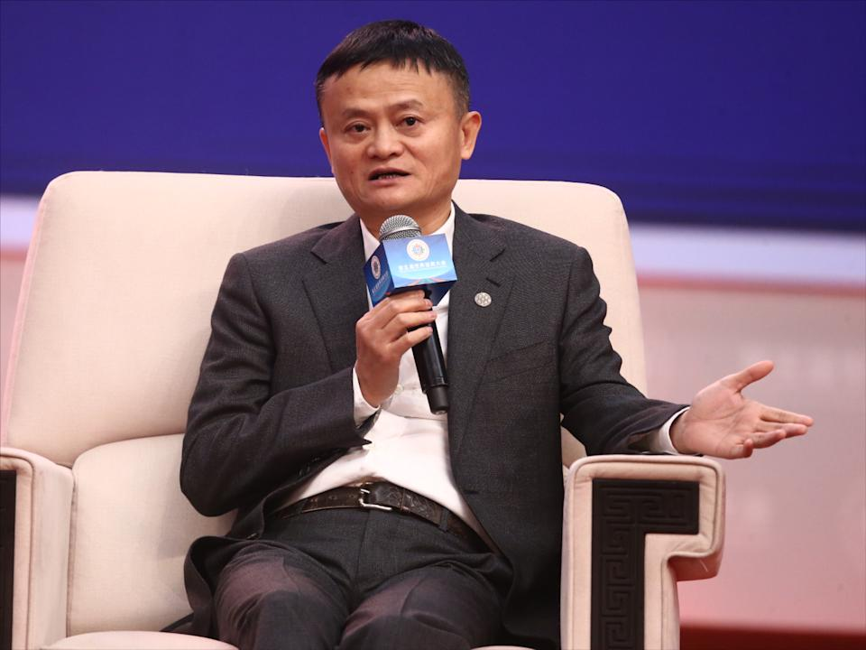 Jack Ma, or Ma Yun, the co-founder and former executive chairman of Alibaba Group, a multinational technology conglomerate, delivers a speech during the 5th World Zhejiang Entrepreneurs Convention in Hangzhou city, east China's Zhejiang province, 13 November 2019.