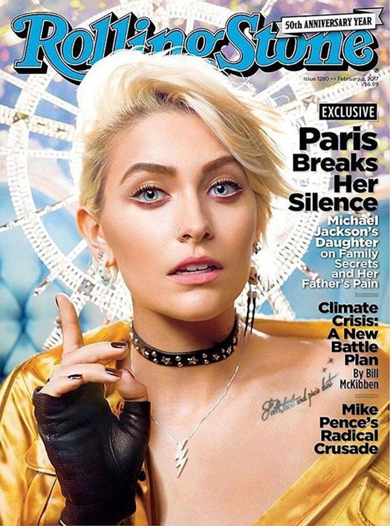 Paris Jackson features on the cover of Rolling Stone's February 2017 edition (Copyright: Rolling Stone)
