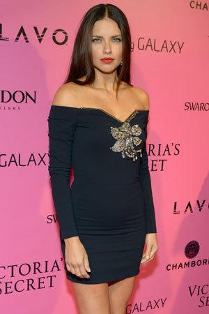 Brazilian model Adriana Lima was back on the catwalk just two months after giving birth to her second daughter.