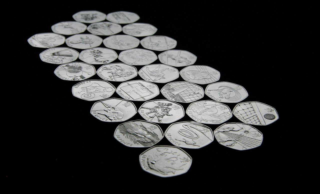 New 50p pieces have been created by the Royal Mint to commemorate the 29 Olympic and Paralympic sports to be contested during London 2012