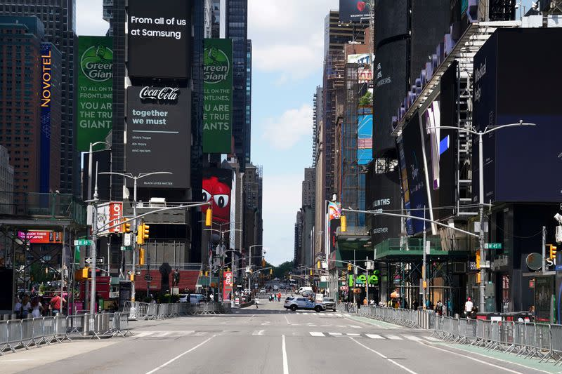 FILE PHOTO: Times Square is pictured in the Manhattan borough of New York City