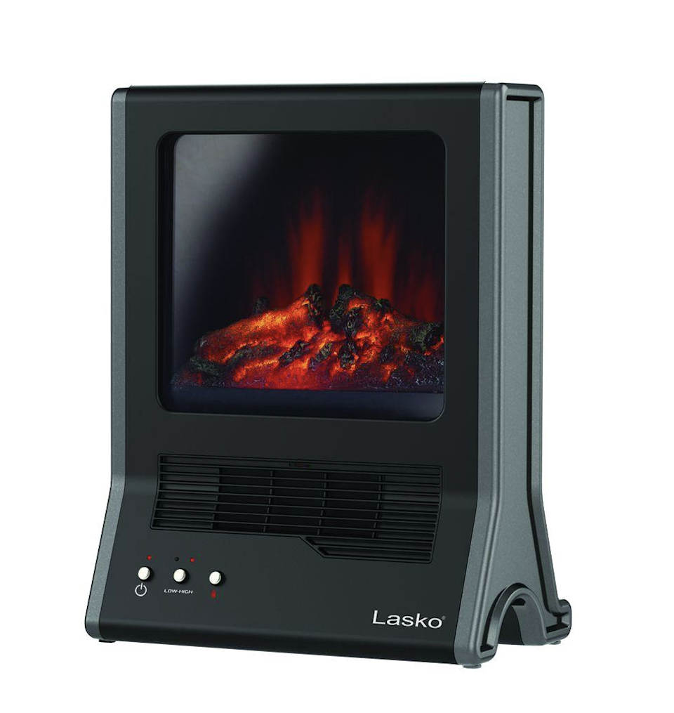 """<h2>Lasko Ultra 1500-Watt Electric Portable Fireplace Space Heater</h2><br>If a modern heater is what you're looking for, you've found it. Lasko's space heater resembles a mini fireplace and is made out of glossy black ceramic. Add instant ambiance to any room and heat areas up to 300 sq. ft.<br><br><strong>The Hype:</strong> 4.5 out of 5 stars and 70 reviews on <a href=""""https://fave.co/3nqnkpQ"""" rel=""""nofollow noopener"""" target=""""_blank"""" data-ylk=""""slk:Home Depot"""" class=""""link rapid-noclick-resp"""">Home Depot</a> <br><br><strong>Heat Finders Say:</strong> """"This is a nice and efficient heater. You will need something to place it on and keep it a foot away from any other objects. It's very pretty at night. It's like watching goldfish swim."""" – <em>Home Depot reviewer</em><br><br><strong>Lasko</strong> Ultra 1500-Watt Electric Ceramic Fireplace Portable Spa, $, available at <a href=""""https://go.skimresources.com/?id=30283X879131&url=https%3A%2F%2Ffave.co%2F3nqnkpQ"""" rel=""""nofollow noopener"""" target=""""_blank"""" data-ylk=""""slk:Home Depot"""" class=""""link rapid-noclick-resp"""">Home Depot</a>"""