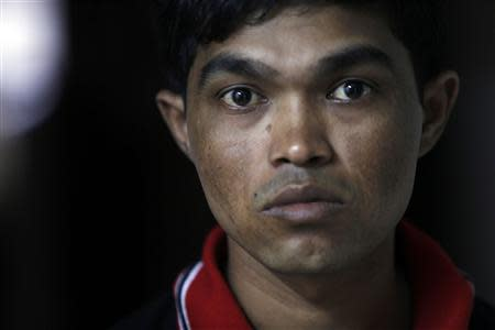 Bozor Mohammed from the Rakhine state in Myanmar is pictured after an interview at his house in Kuala Lumpur November 8, 2013. REUTERS/Samsul Said
