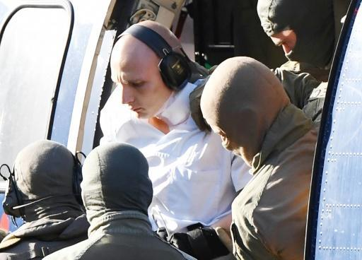 A person believed to be Stephan Balliet, 27, captured by police on October 9, 2019