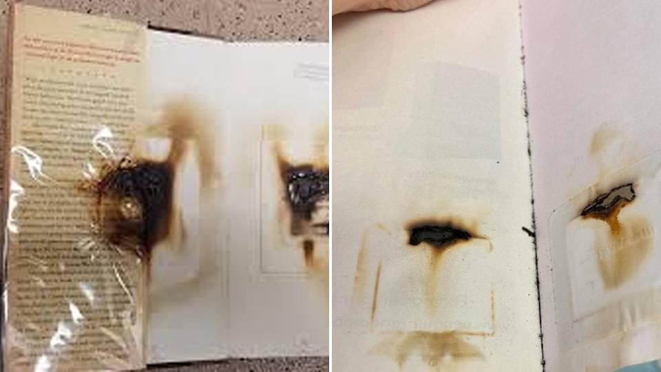Microwaved library books destroyed and burnt