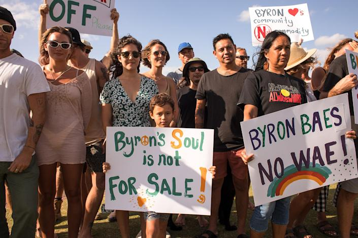 Image: Protests against the show in Byron Bay, Australia. (Kelvin Saik)