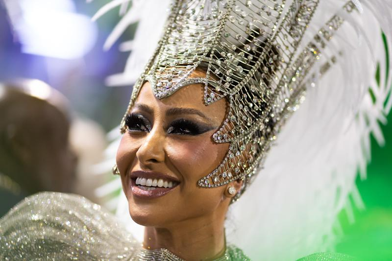 RIO DE JANEIRO, BRAZIL - FEBRUARY 24: Sabrina Sato of Unidos de Vila Isabel samba school performs during the second night of 2020 Rio's Carnival Parades at the Sapucai Sambadrome on February 24, 2020 in Rio de Janeiro, Brazil. Carnival is the biggest and most popular celebration in Brazil.(Photo by Buda Mendes/Getty Images)