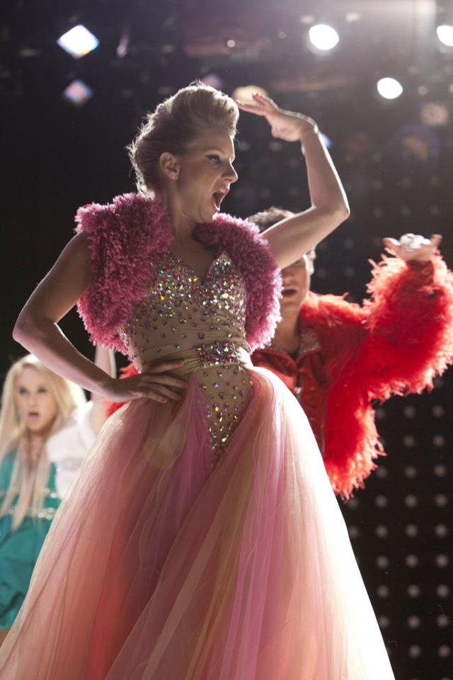 "Brittany (Heather Morris) dresses up for ""Diva Week"" in the ""Diva"" episode of ""Glee."""