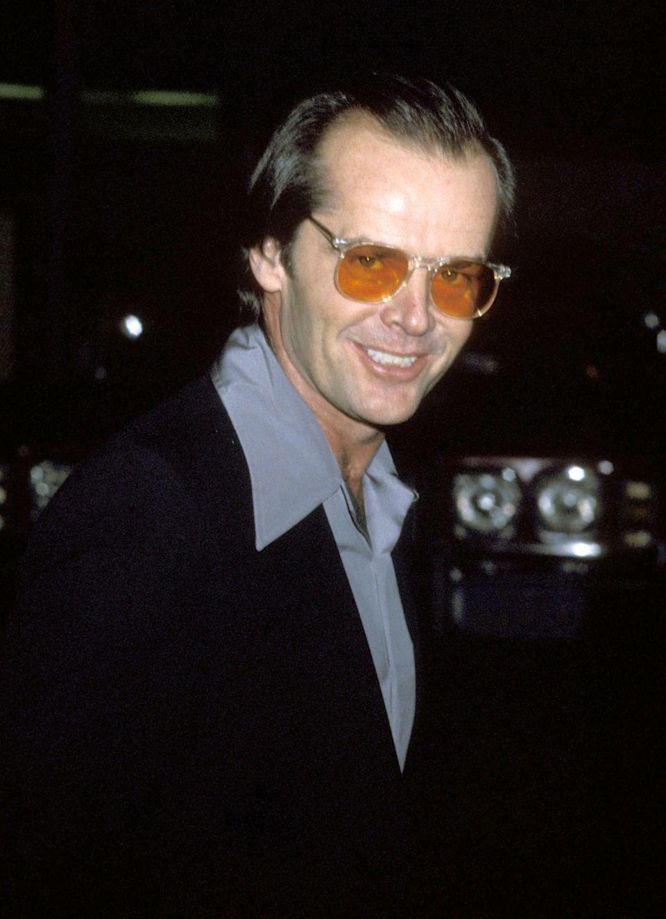 <p>Jack Nicholson arrives at the 1978 stage show <em>Appearing Nightly, </em>starring Lily Tomlin, at the Huntington Hartford Theater in Los Angeles.</p>