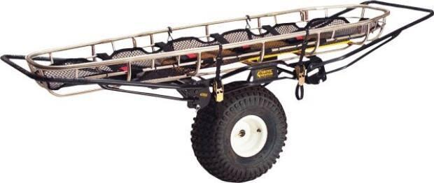 Rescuers used a device like this one to transport the injured hiker out of the woods on Sunday.