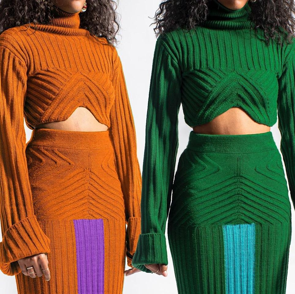"""<p><strong>Designer:</strong> Anifa Mvuemba<br /><strong>Location:</strong> Kensington, MD<br /><strong>Price:</strong> $59-$150<br /><strong>Online Retailers:</strong> <a href=""""https://hanifa.co/"""" target=""""_blank""""> Hanifa.co</a><br /><strong>What makes the brand stand out?</strong>Looking for statement pieces that are high-quality but aren't ridiculously expensive? Add Hanifa to your bookmarks right now. The brand originally started making custom pieces and specializing in alterations, but now its collections are blowing up on Instagram.</p>"""