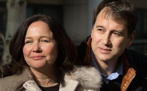 Nadim and Tanya Ednan-Laperouse, the parents of 15 year old Natasha who died after eating a Pret A Manger sandwich - Credit: PA