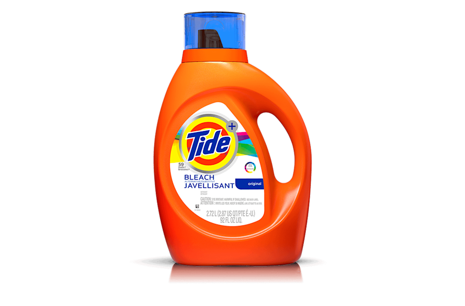 """<p><strong>Tide </strong></p><p>amazon.com</p><p><strong>$41.57</strong></p><p><a href=""""http://www.amazon.com/dp/B00JC60J3Q/?tag=syn-yahoo-20&ascsubtag=%5Bartid%7C10055.g.375%5Bsrc%7Cyahoo-us"""" rel=""""nofollow noopener"""" target=""""_blank"""" data-ylk=""""slk:Shop Now"""" class=""""link rapid-noclick-resp"""">Shop Now</a></p><p>If you prefer liquid over powder, this <strong>liquid version of our best overall powder,</strong> <a href=""""https://www.goodhousekeeping.com/home-products/laundry-detergents/a23300/tide-plus-bleach-alternative/"""" rel=""""nofollow noopener"""" target=""""_blank"""" data-ylk=""""slk:Tide Plus Bleach Alternative"""" class=""""link rapid-noclick-resp"""">Tide Plus Bleach Alternative</a>, is best in class too. This formula contains non-bleach ingredients, but still whitens whites and brightens colors. </p>"""