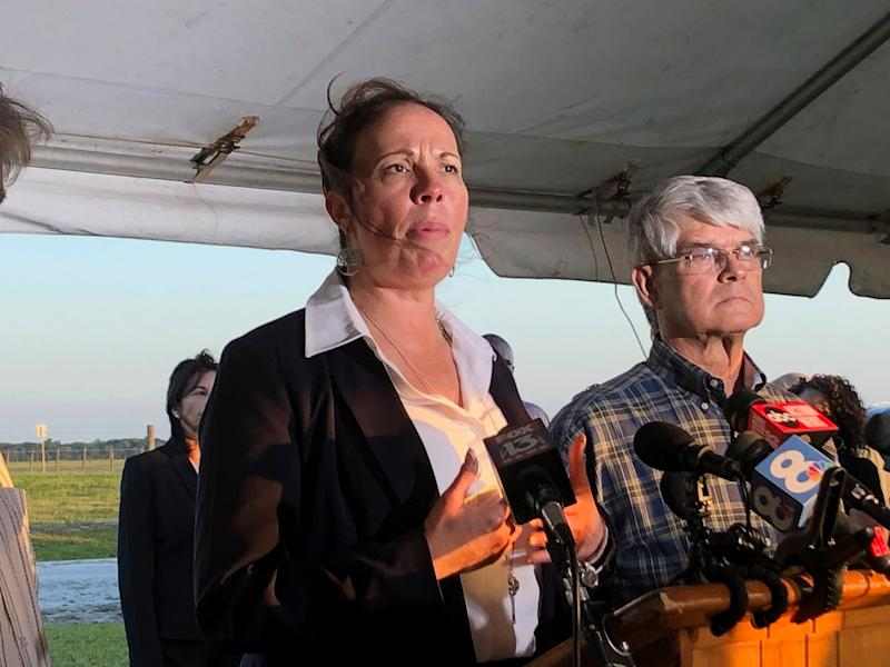 Lisa Noland speaks after the execution of Florida serial killer Bobby Joe Long on Thursday. Ms Noland survived being abducted and raped by Long in 1984.