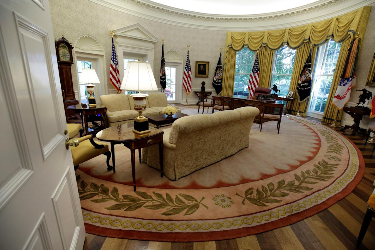 P The Oval Office Of White House Is Seen After A Renovation In