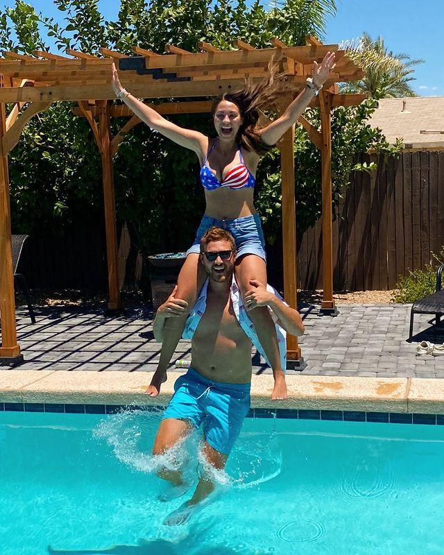 """<p>Remember when Peter Weber broke it off with Hannah Ann Sluss on <em>The Bachelor</em>? Yeah, that was this year. And shortly after, he traveled to Chicago to quarantine with buddy Dustin Kendrick and, get this, his ex Kelley Flanagan. </p><p>The couple didn't work on the show, but as dating rumors swirled, Peter and Kelley <a href=""""https://www.usmagazine.com/celebrity-news/pictures/peter-weber-kelley-flanagans-relationship-confirmed-a-timeline/august-2019-33/"""" rel=""""nofollow noopener"""" target=""""_blank"""" data-ylk=""""slk:confirmed their couple status"""" class=""""link rapid-noclick-resp"""">confirmed their couple status</a> on Nick Viall's podcast, <em>The Viall Files</em>.</p><p><a href=""""https://www.instagram.com/p/CCO6BCLgbVs/"""" rel=""""nofollow noopener"""" target=""""_blank"""" data-ylk=""""slk:See the original post on Instagram"""" class=""""link rapid-noclick-resp"""">See the original post on Instagram</a></p>"""