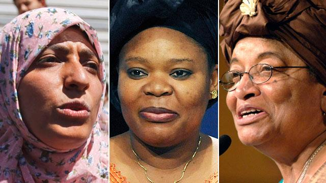 Nobel Peace Prize Goes to Women's Activists Ellen Johnson Sirleaf, Leymah Gbowee and Tawakul Karman (ABC News)