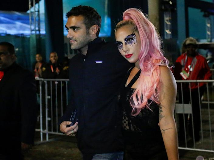 Michael Polansky and Lady Gaga attended the game in Miami, Florida.