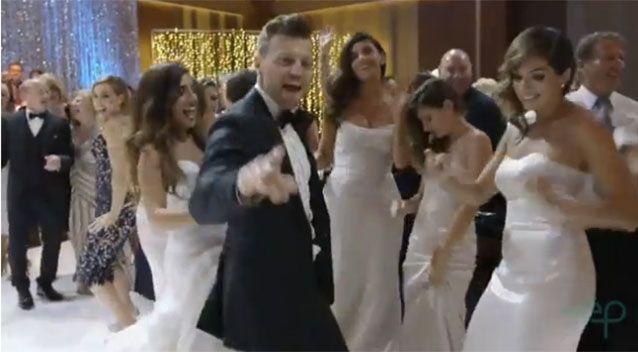 The newlyweds hired Carmelo from Dancing with the Stars to choreograph the six-minute mash-up. Source: Everafter Productions