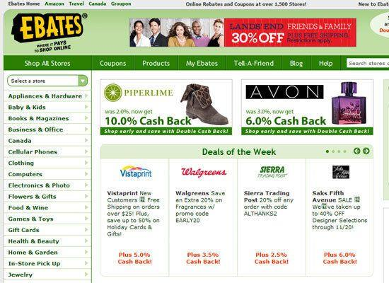 """<em>Get paid to shop online</em> <a href=""""http://www.ebates.com/"""">Ebates</a> is a no-brainer. If all you do is start your holiday shopping at eBates.com, you get access to coupons and discounts of up to 50% off from more than 1500 stores AND you also get a certain amount of money that you spend – back. You basically get paid to shop at stores you're buying from anyway, like Target, Macy's, and Overstock. From the biggest name retailers to specialty shops, they pay Ebates a commission and Ebates splits that with you. No rebate forms to fill out, no points or miles to redeem. Every few months, they send you a check. Ebates also owns <a href=""""http://www.fatwallet.com/"""">FatWallet</a>, which alerts you to special coupon codes, free shipping offers, calls out the online doorbusters and whether there are additional rebates associated to items."""