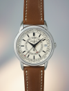 """<p>5212A-001 Calatrava Weekly Calendar </p><p><a class=""""link rapid-noclick-resp"""" href=""""https://search.watches-of-switzerland.co.uk/search?w=Patek+Philippe"""" rel=""""nofollow noopener"""" target=""""_blank"""" data-ylk=""""slk:SHOP"""">SHOP</a><br>Time, day, date, month — the basic temporal measurements and functionality upon which watchmaking has been based since, well, time immemorial. Patek's new high-end 5212A, however, goes one better by adding an additional refinement to its information display by keeping track of the weeks in a year. Beyond the three standard hands for seconds, minutes and hours, two red-tipped hammer pointers register the day and the week number (the latter also cleverly indicates the relevant month on a concentric outer scale). Design afficionados should note the technical lettering on the face is based on the actual handwriting of a Patek designer; a handsome and human detail on such an exquisite and captivating complication. </p><p>£25,610; <a href=""""https://search.watches-of-switzerland.co.uk/search?w=Patek+Philippe"""" rel=""""nofollow noopener"""" target=""""_blank"""" data-ylk=""""slk:patek.com"""" class=""""link rapid-noclick-resp"""">patek.com</a></p>"""