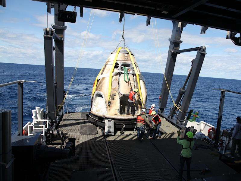 demo 1 crew dragon recovery spacex